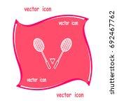 badminton icon   | Shutterstock .eps vector #692467762