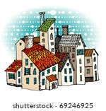 fairy tale town | Shutterstock .eps vector #69246925
