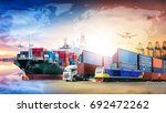 global business logistics... | Shutterstock . vector #692472262