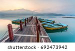 scenery of sun moon lake  the... | Shutterstock . vector #692473942