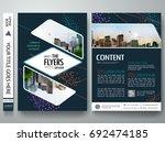 portfolio design vector.... | Shutterstock .eps vector #692474185