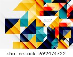 triangle pattern design... | Shutterstock .eps vector #692474722