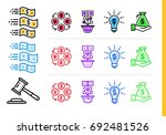 unique linear icons with... | Shutterstock .eps vector #692481526