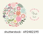 gentle cycle made of flowers in ... | Shutterstock .eps vector #692482195