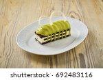 dessert on a beautiful wooden...   Shutterstock . vector #692483116