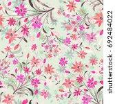 seamless watercolor pattern... | Shutterstock . vector #692484022