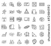 school subjects  icon set.... | Shutterstock .eps vector #692484592