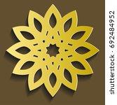 islamic ornament vector.... | Shutterstock .eps vector #692484952