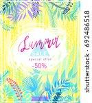 summer sale flyer template... | Shutterstock .eps vector #692486518