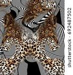 Graphic Leopard Skin Background