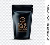 coffee bag mockup packaging...   Shutterstock .eps vector #692489092