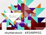 triangle pattern design... | Shutterstock . vector #692489932