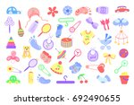 set different objects for the... | Shutterstock .eps vector #692490655