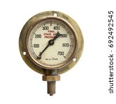 Grungy Old Brass  Air Pressure...