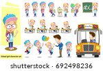 school girl character set.... | Shutterstock .eps vector #692498236