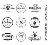 bakery   cakes vintage logo | Shutterstock .eps vector #692507512
