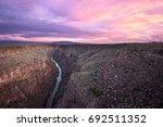 Rio Grande River At Sunset Near ...