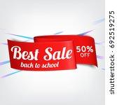 red  paper banner for best sale....   Shutterstock .eps vector #692519275