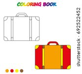 travel suitcase   coloring book.... | Shutterstock .eps vector #692522452