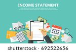 invoice. financial calculations.... | Shutterstock .eps vector #692522656