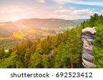 viewpoint aboce jizera valley... | Shutterstock . vector #692523412
