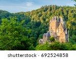 burg eltz castle in rhineland... | Shutterstock . vector #692524858