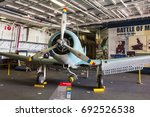 Small photo of San Diego, CA, USA - 5th of July 2013: SBD Dauntless Dive bomber at San Diego Air & Space Museum at Balboa park.