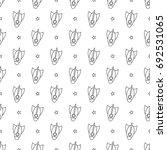 cartoon rockets and stars on... | Shutterstock .eps vector #692531065