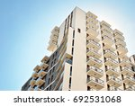 modern apartment building... | Shutterstock . vector #692531068