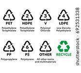 illustration icons  recycling... | Shutterstock .eps vector #692531338