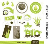 set  eco and bio icons  vector... | Shutterstock .eps vector #69253510
