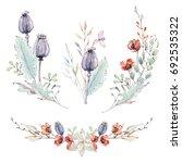 watercolor autumn composition.... | Shutterstock . vector #692535322
