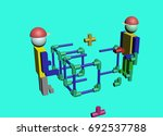 assembly of construction... | Shutterstock . vector #692537788