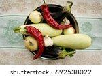 summer vegetables chili  onion  ...