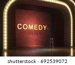 dark empty stage with... | Shutterstock . vector #692539072
