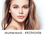 closeup beauty portrait of... | Shutterstock . vector #692541436