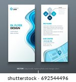 dl flyer design. corporate... | Shutterstock .eps vector #692544496