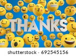 set of emoji emoticon character ... | Shutterstock . vector #692545156