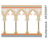 arcade seamless  in medieval...   Shutterstock . vector #69255097