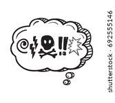 comic speech bubble with swear... | Shutterstock .eps vector #692555146