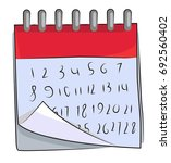 cartoon image of calendar icon. ...