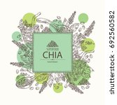 background with chia  cocktail...   Shutterstock .eps vector #692560582