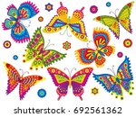 vector colorful butterflies....