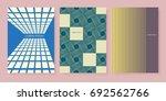 retro style cover design... | Shutterstock .eps vector #692562766