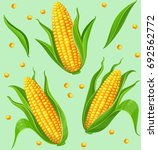 seamless pattern with yellow... | Shutterstock .eps vector #692562772