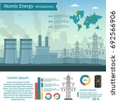 nuclear power plant vector... | Shutterstock .eps vector #692566906