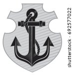 vector anchor on a background... | Shutterstock .eps vector #692577022