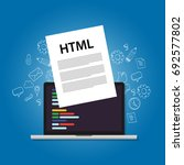 html hyper text markup language ... | Shutterstock .eps vector #692577802