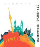 travel germany illustration in... | Shutterstock .eps vector #692584612