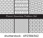 floral seamless pattern vector... | Shutterstock .eps vector #692586562